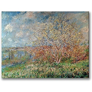 Trademark Global Claude Monet in.Spring 1880in. Canvas Art, 35in. x 47in.