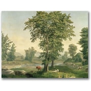 "Trademark Global George Inness ""Landscape 1846"" Canvas Art, 35"" x 47"""