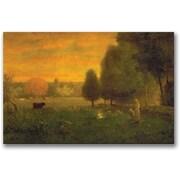 "Trademark Global George Inness ""Sundown Brillance"" Canvas Art, 16"" x 24"""