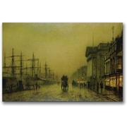 "Trademark Global John Atkinson Grimshaw ""Liverpool Docks Custom House"" Canvas Art, 30"" x 47"""