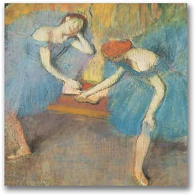 Trademark Global Edgar Degas in.Two Dancers at Restin. Canvas Art, 24in. x 24in.