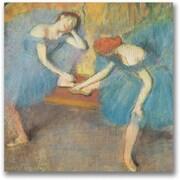 "Trademark Global Edgar Degas ""Two Dancers at Rest"" Canvas Art, 24"" x 24"""