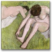 Trademark Global Edgar Degas Two Bathers on the Grass Canvas Art, 24 x 24