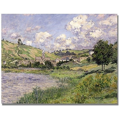 Trademark Global Claude Monet in.Landscape Vetheuil 1879in. Canvas Art, 35in. x 47in.
