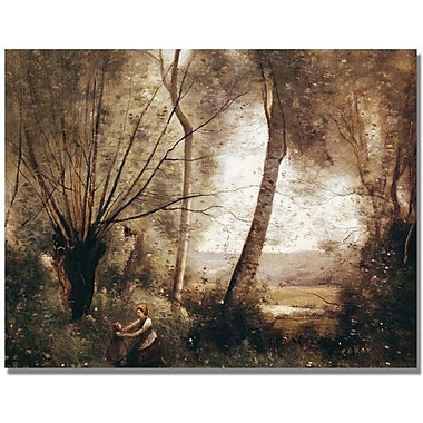 Trademark Global Jean Baptiste Corot in.Landscapein. Canvas Art, 35in. x 47in.