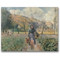 Trademark Global Camille Pissarro in.In the Gardenin. Canvas Arts
