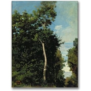 Trademark Global Jean Baptiste Corot The Wood on the Cote de Grace Canvas Art, 24 x 18