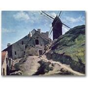 "Trademark Global Jean Baptiste Corot ""A Windmill at Montmre"" Canvas Art, 18"" x 24"""