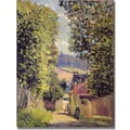 Trademark Global Alfred Sisley in.A Road to Louveciennes 1883in. Canvas Arts