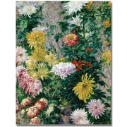Trademark Global Gustave Cailebotte White and Yellow Chrysanthemums Canvas Art, 32 x 24