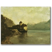 "Trademark Global Gustave Courbet ""Chateau de Chillon 1874"" Canvas Art, 24"" x 32"""