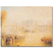 Trademark Global Joseph Turner View of the Pont Neuf Canvas Art, 35 x 47