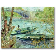 """Trademark Global Vincent Van Gogh """"Fishing in the Spring"""" Canvas Art, 18"""" x 24"""""""