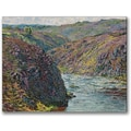 Trademark Global Claude Monet in.Ravines of the Creusein. Canvas Arts