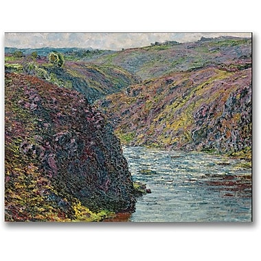 Trademark Global Claude Monet in.Ravines of the Creusein. Canvas Art, 35in. x 47in.