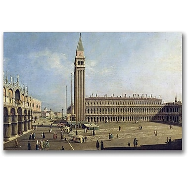 Trademark Global Canaletto in.Piazza San Marco Venicein. Canvas Arts