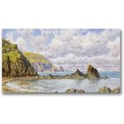 "Trademark Global John Brett ""Forest Cove Cardigan Bay"" Canvas Art, 24"" x 47"""
