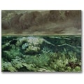 Trademark Global Gustave Courbet in.The Wave, After 1870in. Canvas Arts