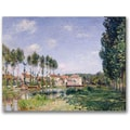 Trademark Global Alfred Sisley in.Banks of the Loing Moretin. Canvas Arts