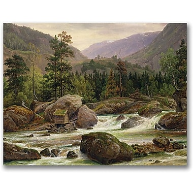 Trademark Global Thomas Fearnley in.Norwegian Waterfall, 1840in. Canvas Arts