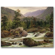 Trademark Global Thomas Fearnley Norwegian Waterfall, 1840 Canvas Art, 35 x 47