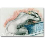 "Trademark Global Edgar Degas ""Woman Washing in the Bath"" Canvas Art, 16"" x 24"""