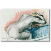 Trademark Global Edgar Degas Woman Washing in the Bath Canvas Art, 30 x 47