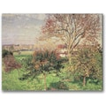 Trademark Global Camille Pissaro in.Autumn Morning at Eragnyin. Canvas Art, 24in. x 32in.