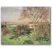 "Trademark Global Camille Pissaro ""Autumn Morning at Eragny"" Canvas Art, 35"" x 47"""