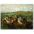 Trademark Global Edgar Degas in.Gentleman Race Before Depurein. Canvas Arts