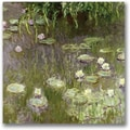 Trademark Global Claude Monet in.Waterlilies at Middayin. Canvas Art, 18in. x 18in.