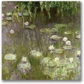 Trademark Global Claude Monet in.Waterlilies at Middayin. Canvas Arts