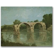 "Trademark Global Gustave Courbet ""The Bridge at Ambrussum"" Canvas Art, 35"" x 47"""