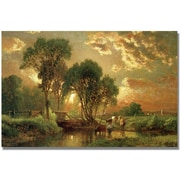 "Trademark Global George Inness ""Medfield Massachusetts"" Canvas Art, 30"" x 47"""