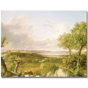 Trademark Global Thomas Cole View of Boston Canvas Art, 35 x 47