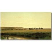Trademark Global Thomas Ehittredge A Wagon Train on the Plain Canvas Art, 24 x 47