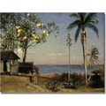 Trademark Global Fredric Church in.Tropical Scenein. Canvas Art, 30in. x 47in.