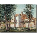 Trademark Global Alfred Sisley in.The Loing at Moretin. Canvas Arts
