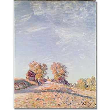 Trademark Global Alfred Sisley in.Uphill Road in Sunshinein. Canvas Art, 24in. x 18in.