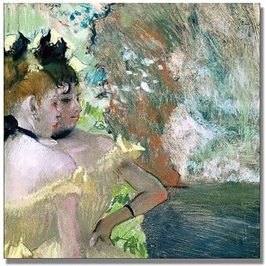 Trademark Global Edgar Degas in.Dancers in the Wingsin. Canvas Art, 24in. x 24in.