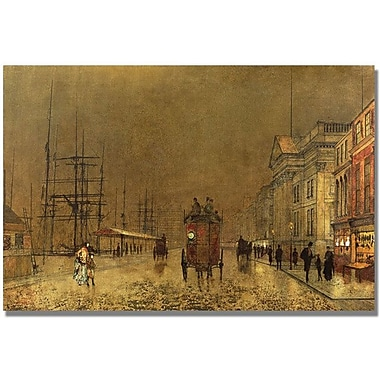 Trademark Global John Atkinson Grimshaw in.A Liverpool Streetin. Canvas Art, 30in. x 47in.