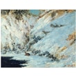 Trademark Global Gustave Courbet in.Snowy Landscape 1876in. Canvas Art, 24in. x 32in.