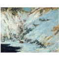 Trademark Global Gustave Courbet in.Snowy Landscape 1876in. Canvas Art, 35in. x 47in.