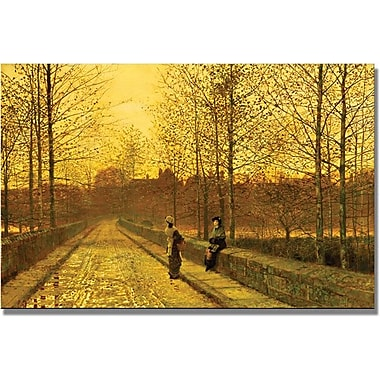 Trademark Global John Atkinson Grimshaw in.In The Golden Gloamingin. Canvas Art, 30in. x 47in.