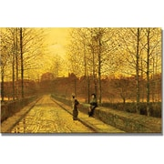 "Trademark Global John Atkinson Grimshaw ""In The Golden Gloaming"" Canvas Art, 30"" x 47"""