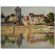 Trademark Global Claude Monet in.By the River at Vernonin. Canvas Art, 24in. x 32in.