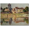 Trademark Global Claude Monet in.By the River at Vernonin. Canvas Art, 35in. x 47in.