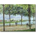 Trademark Global Alfred Sisley in.The Avenue of Chestnut Trees IIin. Canvas Art, 35in. x 47in.