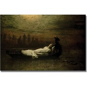 Trademark Global John Atkinson Grimshaw The Lady Of Shalott Canvas Art, 16 x 24