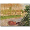 Trademark Global Camille Pissaro in.Sunset at Moret sur Loingin. Canvas Art, 35in. x 47in.